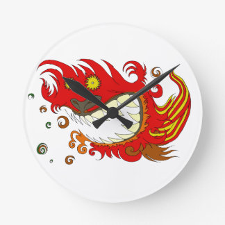Happy Dragon Round Clock