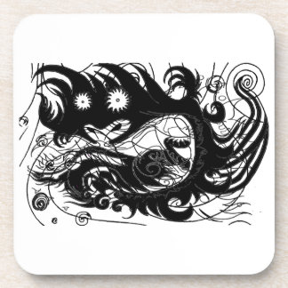 Happy dragon (Silhouette) Coaster