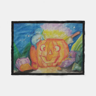 Happy Dragonween Fleece Blanket