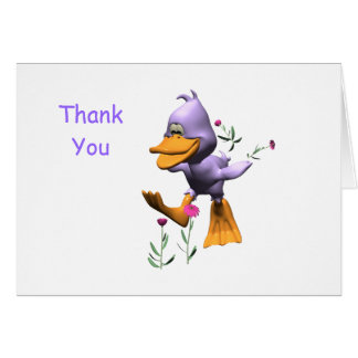 Happy Duck Thank You Card