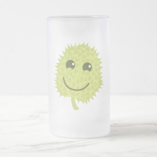 Happy Durian Frosted Glass Mug
