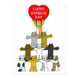 Easter monday gifts gift ideas zazzle uk happy dyngus day with romantic cats postcard negle Images