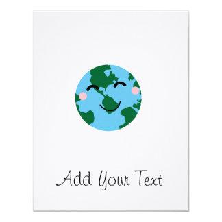 Happy Earth 11 Cm X 14 Cm Invitation Card