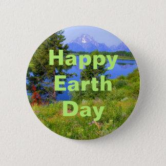 Happy Earth Day 6 Cm Round Badge