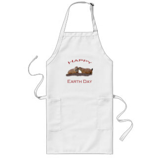 Happy Earth Day Long Apron