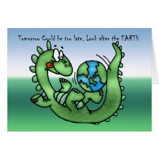 Happy Earth Day with Dinosaur Card