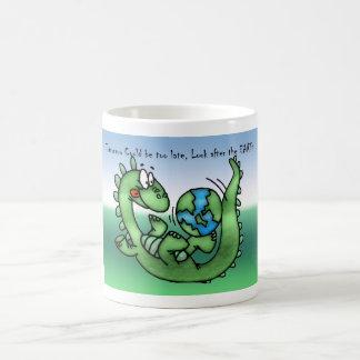 Happy Earth Day with Dinosaur Classic White Coffee Mug