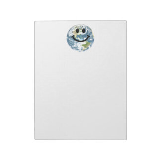 Happy Earth smiley face Notepad
