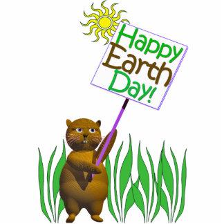 Happy Earthday Hedgehog Standing Photo Sculpture