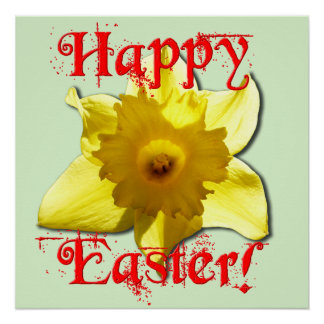 Happy Easter, 02.2T Daffodils Poster
