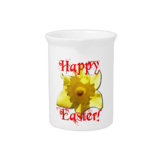 Happy Easter, 02.T Daffodils Pitcher