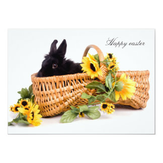 Happy easter 13 cm x 18 cm invitation card