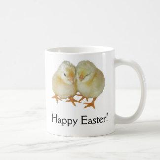 Happy Easter - 2 Cute Yellow Basque Chicks Coffee Mug