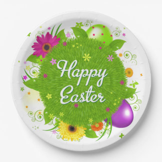 Happy Easter 9 Inch Paper Plate