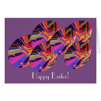 Happy Easter Abstract Clown Egg Design Card