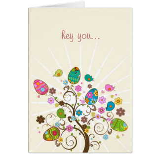 Happy Easter Abstract Easter Tree Cards