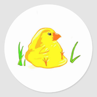 Happy Easter! (Baby Chick) Classic Round Sticker