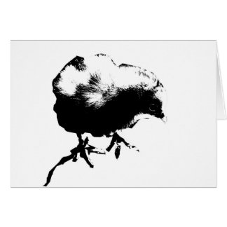 Happy Easter! (Baby Chick) Monotone print Greeting Card