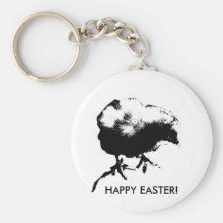Happy Easter! (Baby Chick) Monotone print Key Chain