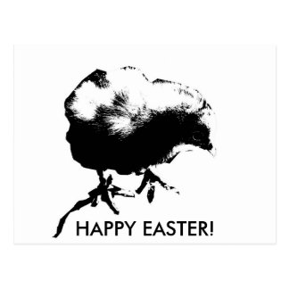 Happy Easter! (Baby Chick) Monotone print Postcard