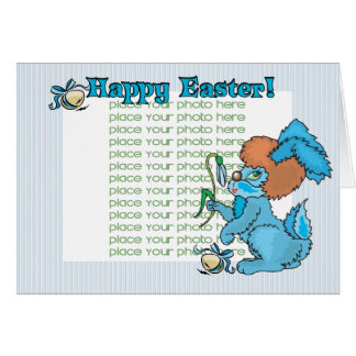 """Happy Easter Baby""""s Photo Greeting Card"""
