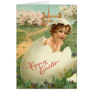 Happy Easter Baby Vintage Card