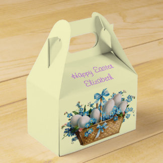 Happy Easter, Basket, Custom, Box Party Favour Box