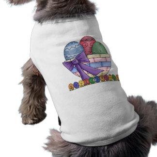 Happy Easter Basket Dog Shirt