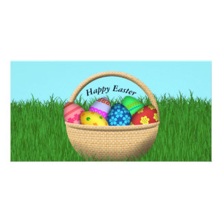 Happy Easter Basket Photo Card