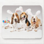 Happy Easter Basset Mousepad