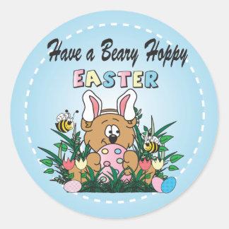 Happy Easter Bear Bunny Rabbit Classic Round Sticker