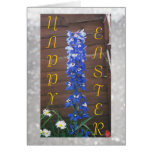 Happy Easter - Blue Dephinium Greeting Card