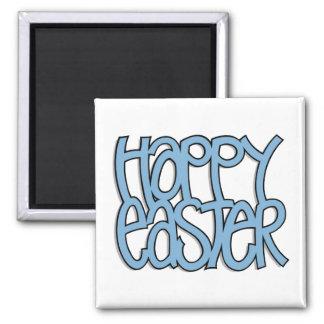 Happy Easter blue Magnet