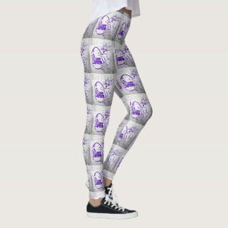 Happy Easter Brick Wall Leggings
