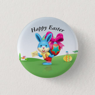 Happy Easter Bunny 3 Cm Round Badge