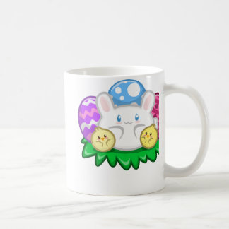 Happy Easter: Bunny and Chicks Mug
