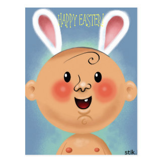 HAPPY EASTER! Bunny Baby Postcard