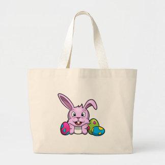 Happy Easter Bunny Jumbo Tote Bag