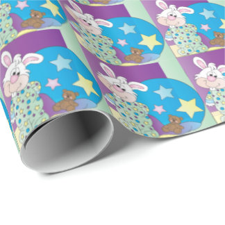 Happy Easter Bunny - Blue Wrapping Paper