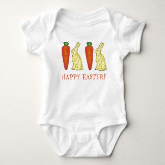 Happy Easter Bunny Bunnies n' Carrots Candy Suit Baby Bodysuit