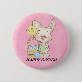 Happy Easter Bunny Button
