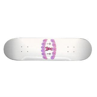 Happy Easter Bunny & Cross Custom Skate Board