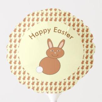 Happy Easter Bunny Custom Balloon