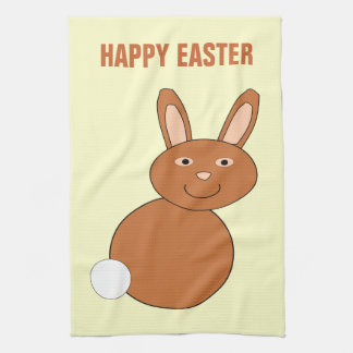 Happy Easter Bunny Custom Kitchen Towel