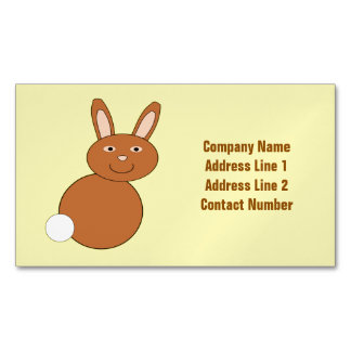 Happy Easter Bunny Custom Magnetic Business Card