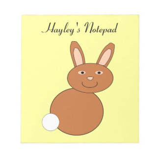 Happy Easter Bunny Customizable Notepad