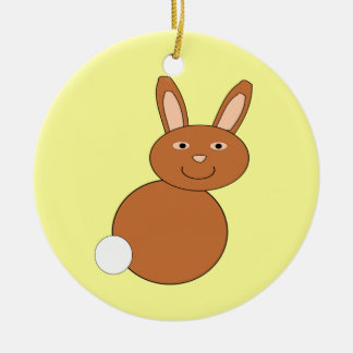 Happy Easter Bunny Customizable Ornament