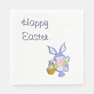 Happy Easter Bunny Disposable Serviettes