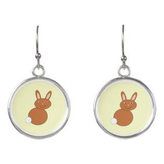 Happy Easter Bunny Drop Earrings