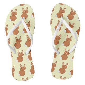 Happy Easter Bunny Flip Flops